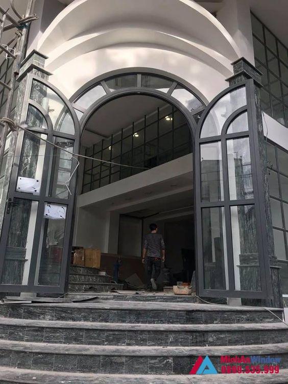 Mẫu Cửa Nhôm Xingfa Uốn Vòm Cong Đẹp Nhất Hiện Nay 4