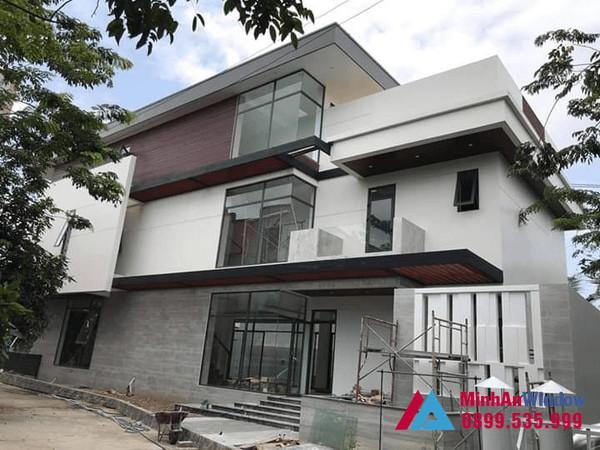 Công trình cửa nhôm kính Xingfa Minh An Window lắp đặt tại Hưng Yên