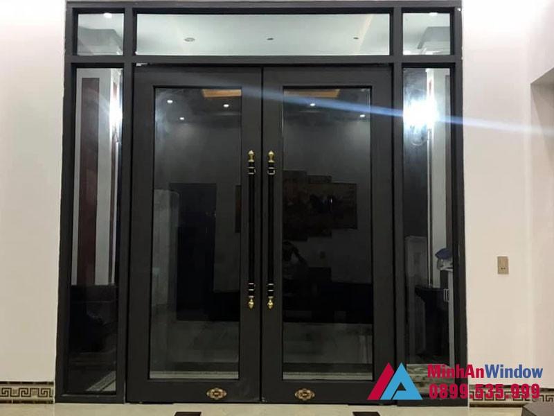 Mẫu cửa đi 2 cánh Minh An Window lắp đặt tại Hà Giang