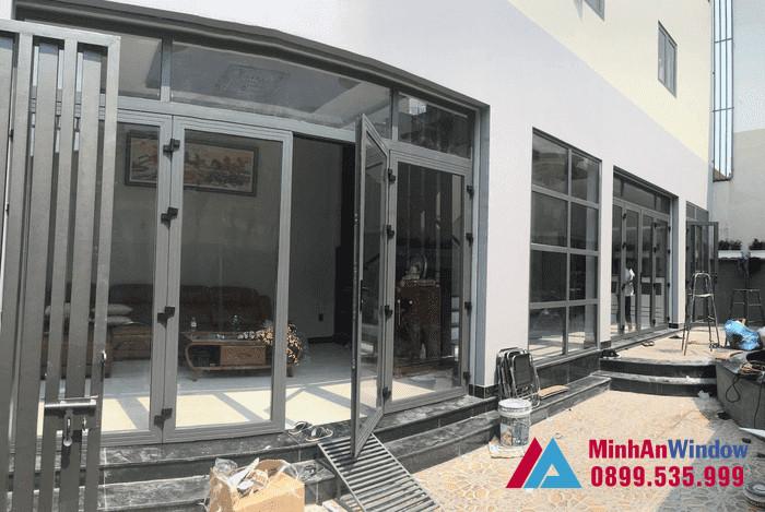 Mẫu các bộ cửa nhôm kính Minh An Window lắp đặt tại Cao Bằng