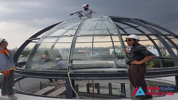Mái vòm kính khung sắt nghệ thuật