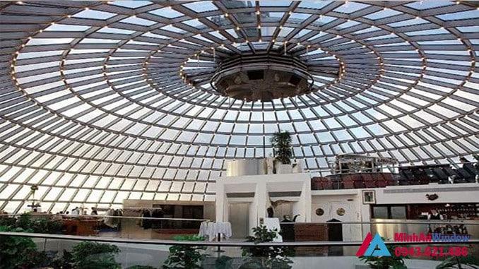 Công trình mái kính vòm đẳng cấp