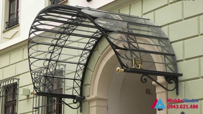 Mái vòm kính khung sắt nghệ thuật cổ kính
