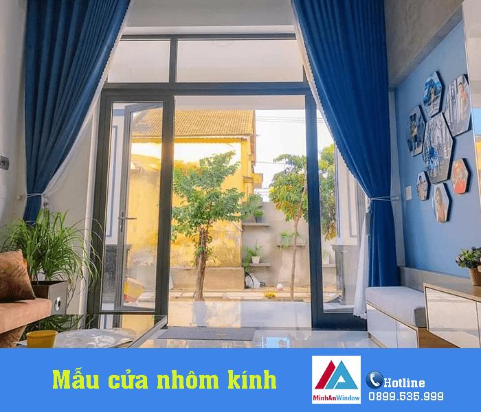 Mẫu cửa đi nhôm kính Minh An Window lắp đặt tại Yên Bái