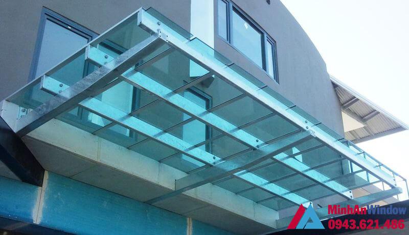Mẫu mái kính tầng thượng Minh An Window lắp cho các công ty lớn