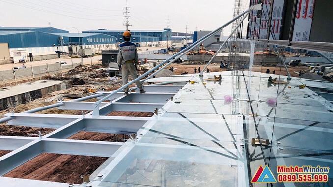 Công trình mái kính do Minh An Window lắp đặt
