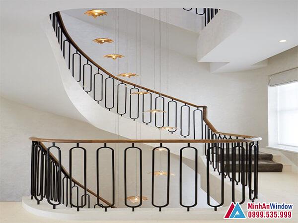 Cầu thang sắt mỹ thuật cao cấp chất lượng - Minh An Window đã thi công