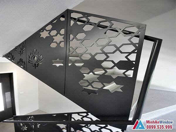 Cầu thang sắt mỹ thuật cao cấp chất lượng cho các biệt thự - Minh An Window đã thi công