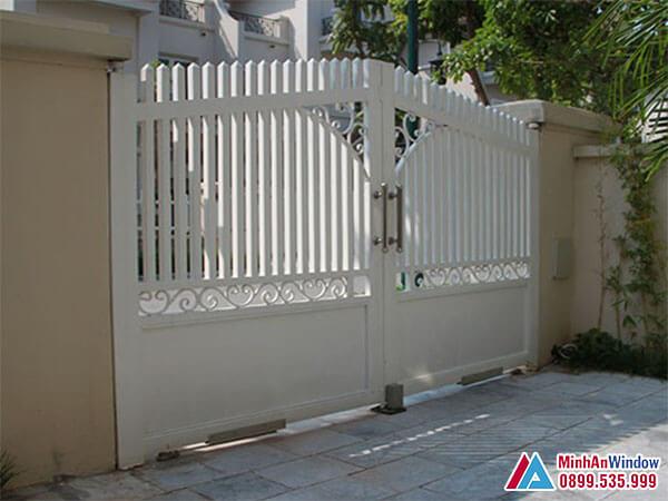 Cổng tự động âm sàn Malaysia cao cấp - Minh An Window cung cấp và lắp đặt