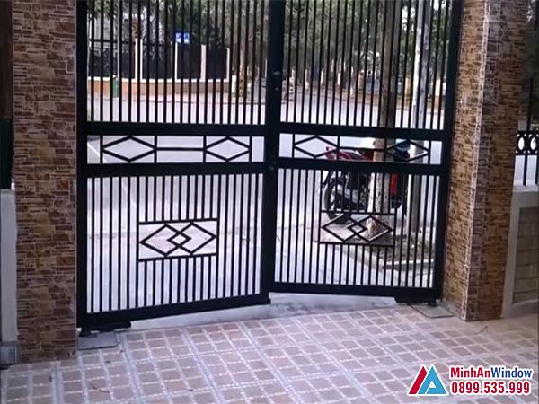 Cổng tự động âm sàn cao cấp chất lượng số 1 Việt Nam - Minh An Window đã thi công