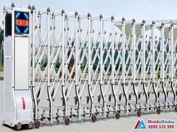 Cửa tự động xếp gấp cao cấp chất lượng cho các nhà máy - Minh An Window đã thi công