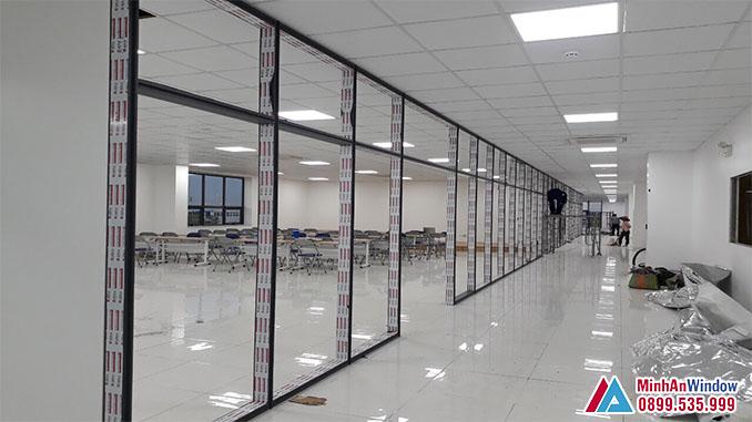 Cửa Kính Cường Lực Khung Nhôm Cao Cấp Chất Lượng - Minh An Window Đã Thi Công