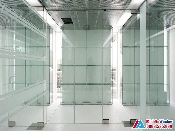 Cửa kính cường lực tại Bắc Kạn đẹp - Minh An Window đã thi công