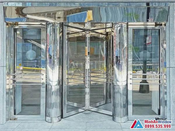 Cửa Kính Cường Lực Khung Inox Sang Trọng Cho Các Khách Sạn - Minh An Window Đã Thi Công