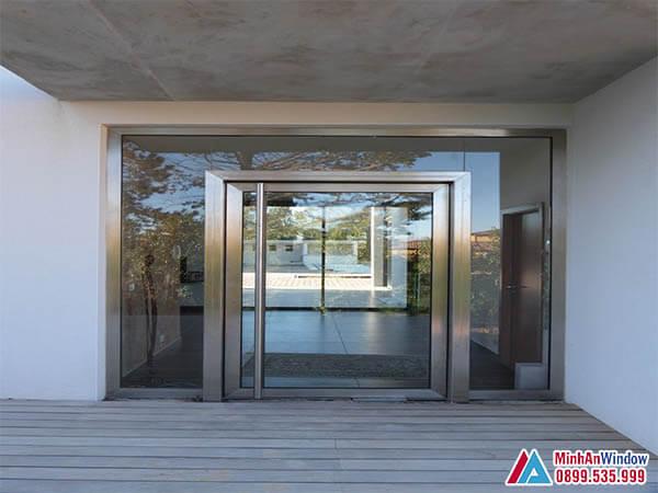 Cửa kính khung inox cao cấp chất lượng số 1 Miền Bắc - Minh An Window đã thi công