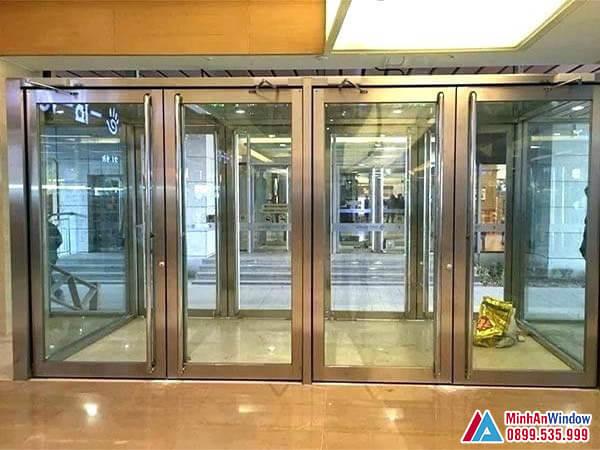 Cửa kính khung inox cao cấp chất lượng - Minh An Window đã thi công