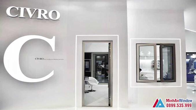 Cửa nhôm cao cấp CIVRO 1 cánh đẹp - Minh An Window cung cấp và lắp đặt