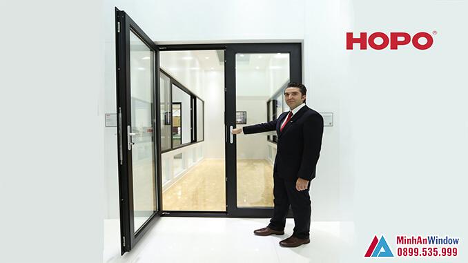 Cửa nhôm cao cấp Hopo mở quay - Minh An Window cung cấp và lắp đặt