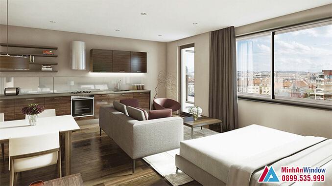 Cửa nhôm cao cấp cho phòng ngủ đẹp nhất năm 2021 - Minh An Window đã thi công