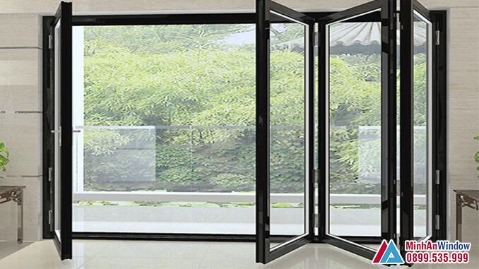 Cửa nhôm cao cấp xếp trượt phổ biến cho các biệt thự - Minh An Window đã thi công