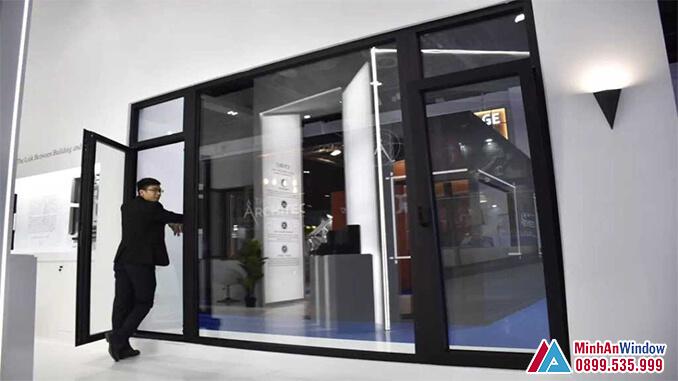 Cửa đi nhôm cao cấp cho các công trình dân sinh - Minh An Window đã thi công