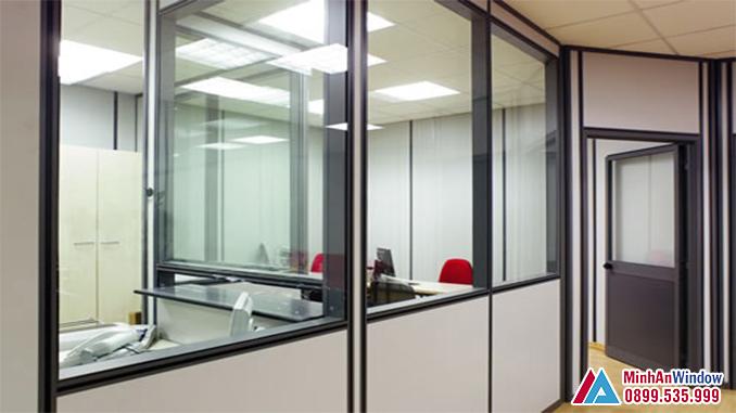 Vách nhôm Hyundai cho các văn phòng lớn - Minh An Window đã thi công