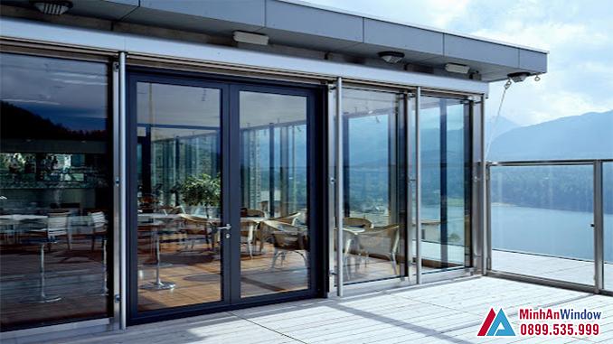 Cửa nhôm Hyundai cánh trượt cao cấp cho các biệt thự - Minh An Window đã thi công