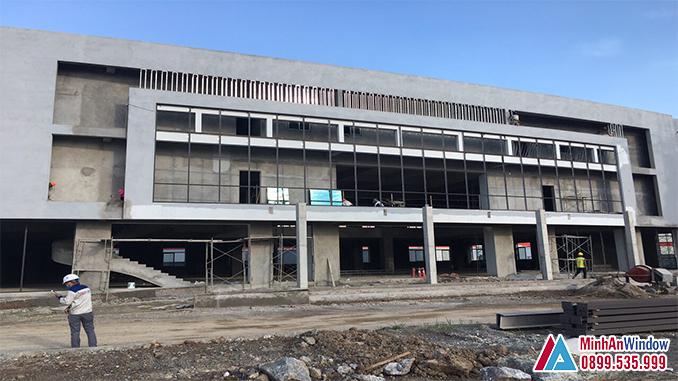 Cửa nhôm kính khu công nghiệp lớn tại Hà Nam - Minh An Window đâu đã thi công