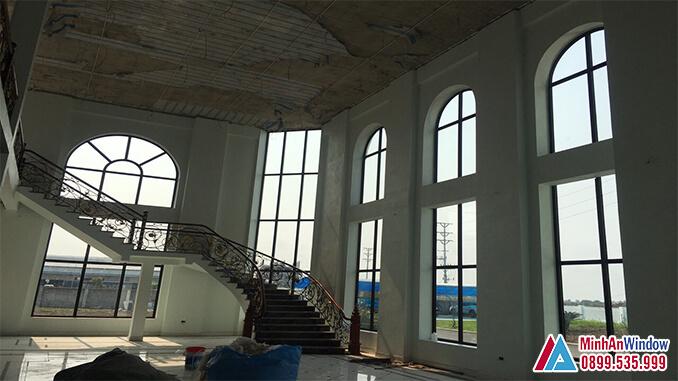 Cửa nhôm kính khu công nghiệp với nhiều hình dạng, kính thước khác nhau - Minh An Window đã thi công