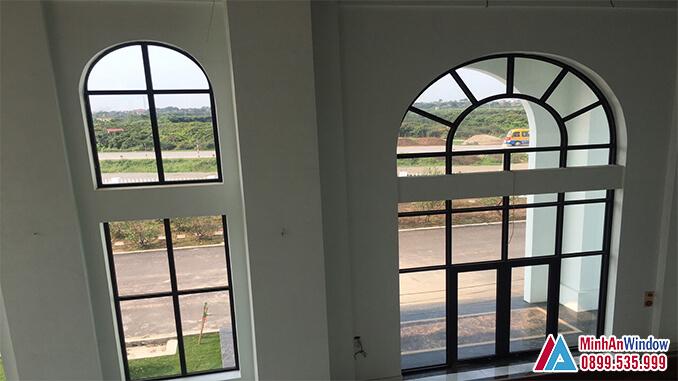 Cửa nhôm kính khu công nghiệp cao cấp - Minh An Window đã thi công