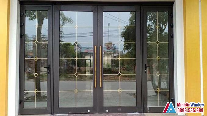 Cửa nhôm kính khu công nghiệp 4 cánh cao cấp chất lượng - Minh An Window đã thi công