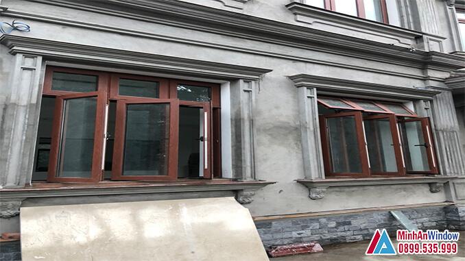 Các loại cửa sổ nhôm kính vân gỗ cho các khu công nghiệp - Minh An Window đã thi công