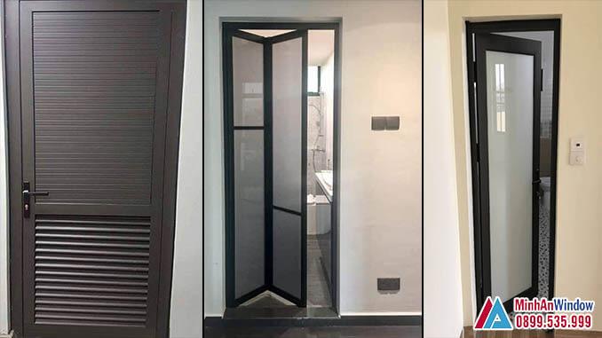 Cửa Nhôm Kính Khung Nhôm Nhà Vệ Sinh Cao Cấp Chất Lượng - Minh An Window Đã Thi Công