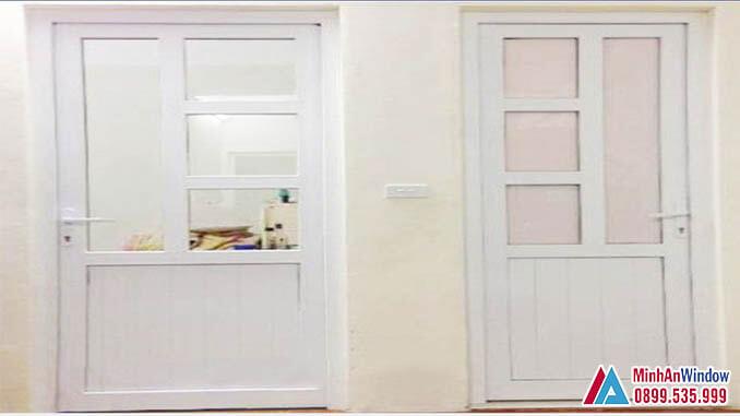 Cửa Nhôm Kính Nhà Vệ Sinh Khung Nhôm Chia Ô Cao Cấp - Minh An Window Đã Thi Công