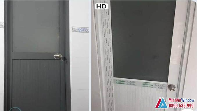 Cửa Nhôm Kính Nhà Vệ Sinh Cao Cấp Chất Lượng - Minh An Window Đã Thi Công