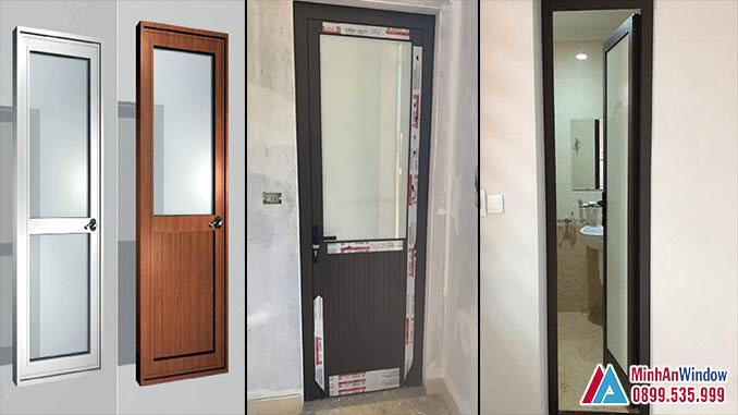 Cửa Nhôm Kính Nhà Vệ Sinh 1 Cánh Cao Cấp - Minh An Window Đã Thi Công