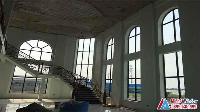 Cửa Nhôm Kính Tại Đan Phượng Cao Cấp - Minh An Window Đã Thi Công