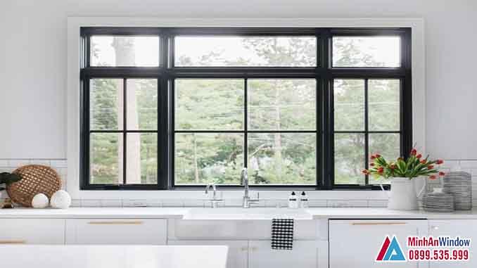 Cửa Nhôm Kính Tại Đan Phượng Mẫu Cửa Sổ Cho Phòng Bếp - Minh An Window Đã Thi Công