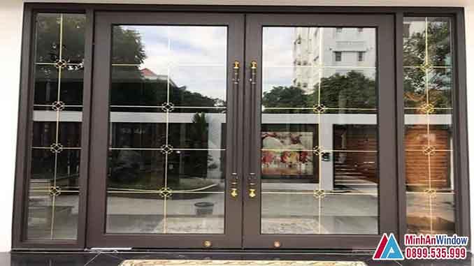 Cửa Nhôm Kính 2 Cánh Cao Cấp Chất Lượng - Minh An Window Đã Thi Công