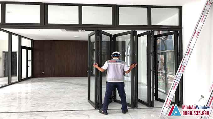 Cửa Nhôm Kính Tại Sơn Tây Mẫu Cửa Trượt Gấp Cao Cấp - Minh An Window Đã Thi Công
