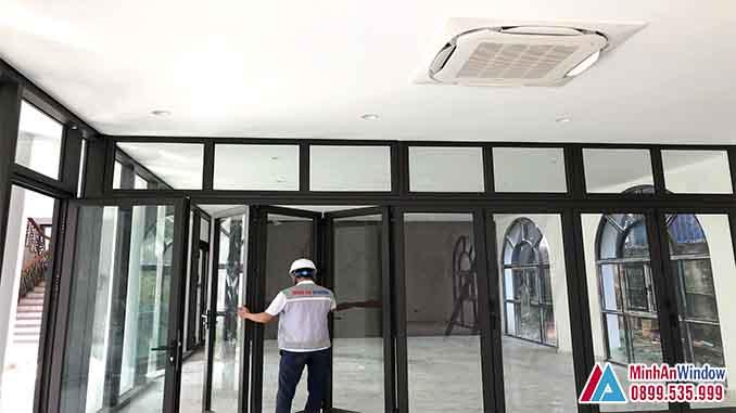 Cửa Nhôm Kính Cao Tại Bắc Kạn Cao Cấp - Minh An Window Đã Thi Công