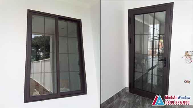 Cửa Nhôm Kính Tại Vĩnh Phúc 1 Cánh Cao Cấp - Minh An Window Đã Thi Công