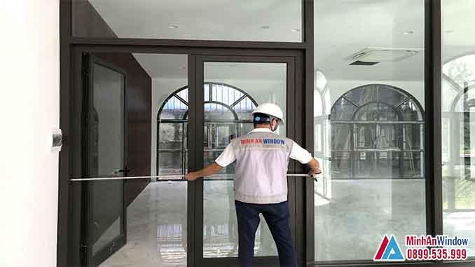 Cửa Nhôm Kính Tại Vĩnh Phúc Cao Cấp - Minh An Window Đã Thi Công