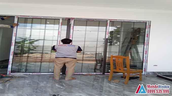 Cửa Nhôm Kính Tại Sơn Tây Cao Cấp - Minh An Window Đã Thi Công