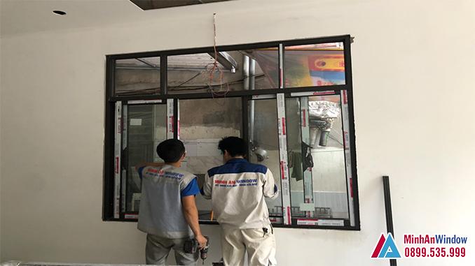 Mẫu cửa sổ nhôm kính tại KCN Phụng Hiệp - Thạch Thất - Hà Nội do Minh An Window lắp đặt