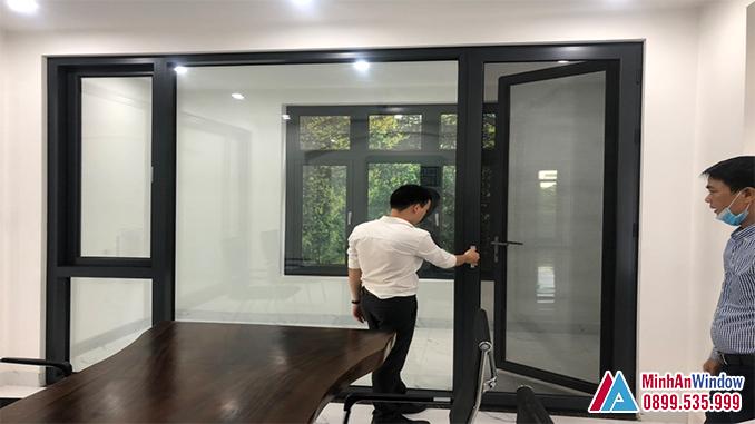 Mẫu cửa nhôm kính tại KCN Thường Tín - Hà Nội do Minh An Window lắp đặt