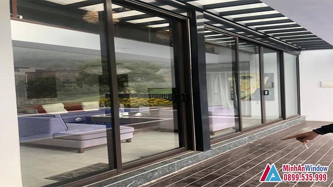Cửa Nhôm Kính Tại Thạch Thất Cho Các Biệt Thự - Minh An Window Đã Thi Công