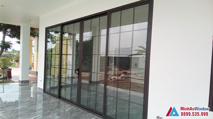 Cửa Nhôm Kính 4 Cánh Cao Cấp - Minh An Window Đã Thi Công