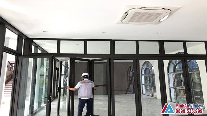 Cửa Nhôm Kính Tại Thái Bình Nhiều Cánh - Minh An Window Đã Thi Công