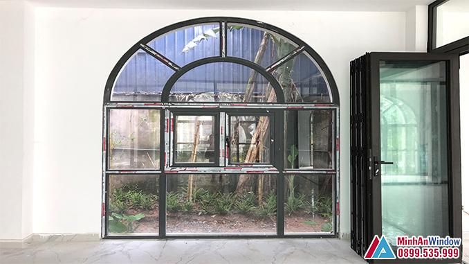 Cửa Nhôm Kính Vòm Cao Cấp Tại Thái Bình - Minh An Window Đã Thi Công